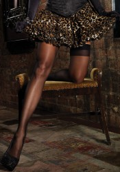 Layered Tulle Leopard Petticoat Skirt