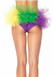 Mardi Gras Spandex Tanga Panty