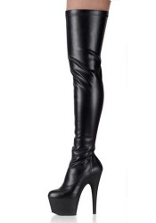 6 1/2 Inch Heel Thigh-High Boot Women'S Size Shoe With Full Inner Side Zipper