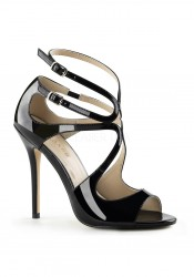 5 Inch Heel, Strappy Sandal With Cutout Detail