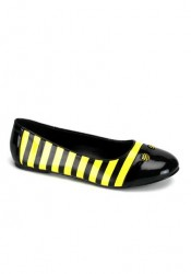 Cute Bee Striped Flats Women'S Size Shoe