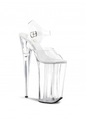 10 Inch Heel, 6 1/4 Inch PF Ankle Strap Sandal