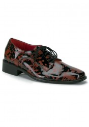 Men'S Blood Spattered Lace-Up Loafer Shoe