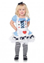 2Pc Little Miss Alice Wonderland Girl's Cute Kids Costumes