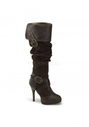 Funtasma CARRIBEAN-216, 4 1/2 Inch Heel Cuffed Knee Boot With Octopus Buckles