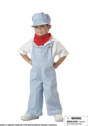 Amtrak Train Engineer Cute Kids Costume
