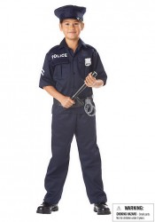 Police Kids Party Costume