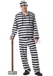 Men'S Jailbird Party Costume