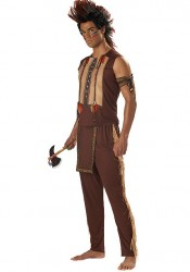 Men'S Noble Warrior Indian Party Costume