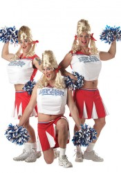 Men'S Varsity Cheerleader Drag Holiday Party Costume