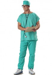 Mens Doctor Scrubs Party Costume