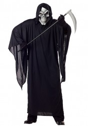 Men'S Grim Reaper Scary Ghost Demon Horror Costume