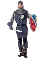 Men'S Valiant Knight Medieval Renaissance Party Costume