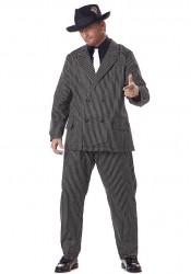 Mens Gangster Mafia Plus Size Holiday Party Costume