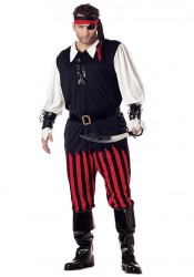 Mens Cutthroat Pirate Holiday Party Costume