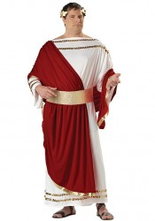 Men'S Caesar Roman Emperor Toga Holiday Party Costume