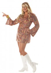 Plus Size Disco Dolly Costume