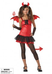 Devil Grrrl Junior Teen Party Costume