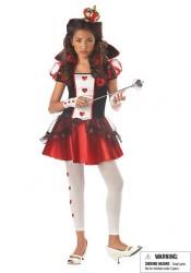 Queen Of Hearts Wonderland Fairytale Junior Teen Holiday Party Costume