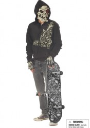 Young Men'S Bonehead Scary Demon Ghost Horror Party Costume
