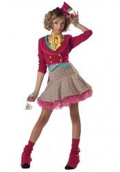 The Mad Hatter Wonderland Fairytale Junior Teen Holiday Party Costume