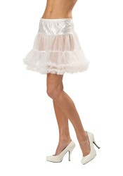 Sheer White Ruffled Pettiskirt Accessory