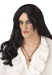 Old World Vampire Wig Holiday Party Costume Accessory