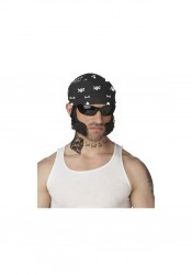 Men's Biker Chops With Bandana