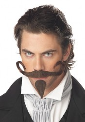The Gambler Mustache Holiday Party Costume Accessory