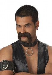 The Leather Daddy Mustache Holiday Party Costume Accessory