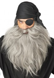 Pirate Beard And Moustache Holiday Party Costume Accessory