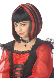Vampire Girl Wig Holiday Party Costume Accessory