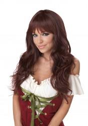 Long Dark Brunette Coquette Wig