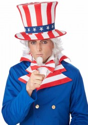 Adult Uncle Sam Wig And Chin Patch
