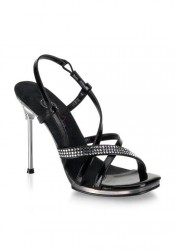 4 1/2 Inch Stiletto Heel Mini-Platform Sandal Women'S Size Shoe With Rhinestone Accents