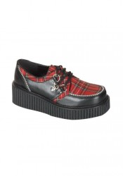 2 Inch Platform Creeper Women'S Size Shoe With Zipper Trim
