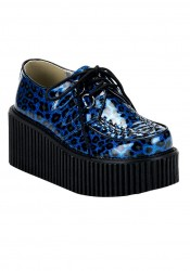 Women's 3 Inch Glitter Cheetah Print Creeper Shoe