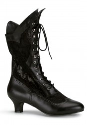 Women's 2 Inch Heel Lace Victorian Ankle Boot