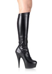 5 3/4 Spike Heel Platform Stretch Knee Boot Women'S Size Shoe