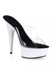 Women's 6 Inch Stiletto Heel UV Platform Slide