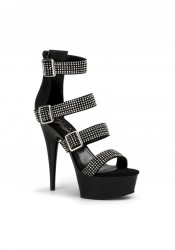 6 Inches Heel, 1 3/4 Inches Platform Rhinestone Strappy Sandal