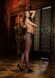 Barcelona, Fishnet Pantyhose With Back Seam