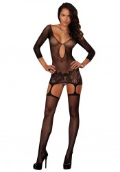 Dreamgirl 0097 Istanbul Fishnet Garter Dress