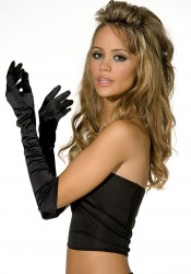 Satin Opera Length Luna Glove