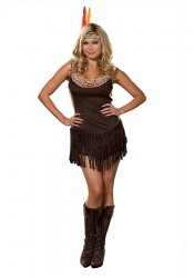 Plus Size Pocahottie Costume