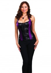 Dreamgirl 7224X Vienna Plus Size Liquid Shine Corset