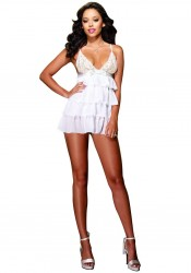 Bridal Bliss Babydoll And Thong