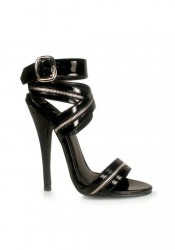 6 Inch Zipper-Inlaid Wrap-Around Sandal