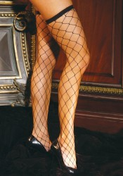Plus Size Fence Net Thigh Highs