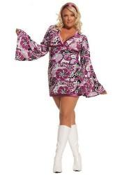 Plus Size Vintage Vixen-2 Pc. Costume Includes Dress And Head Piece